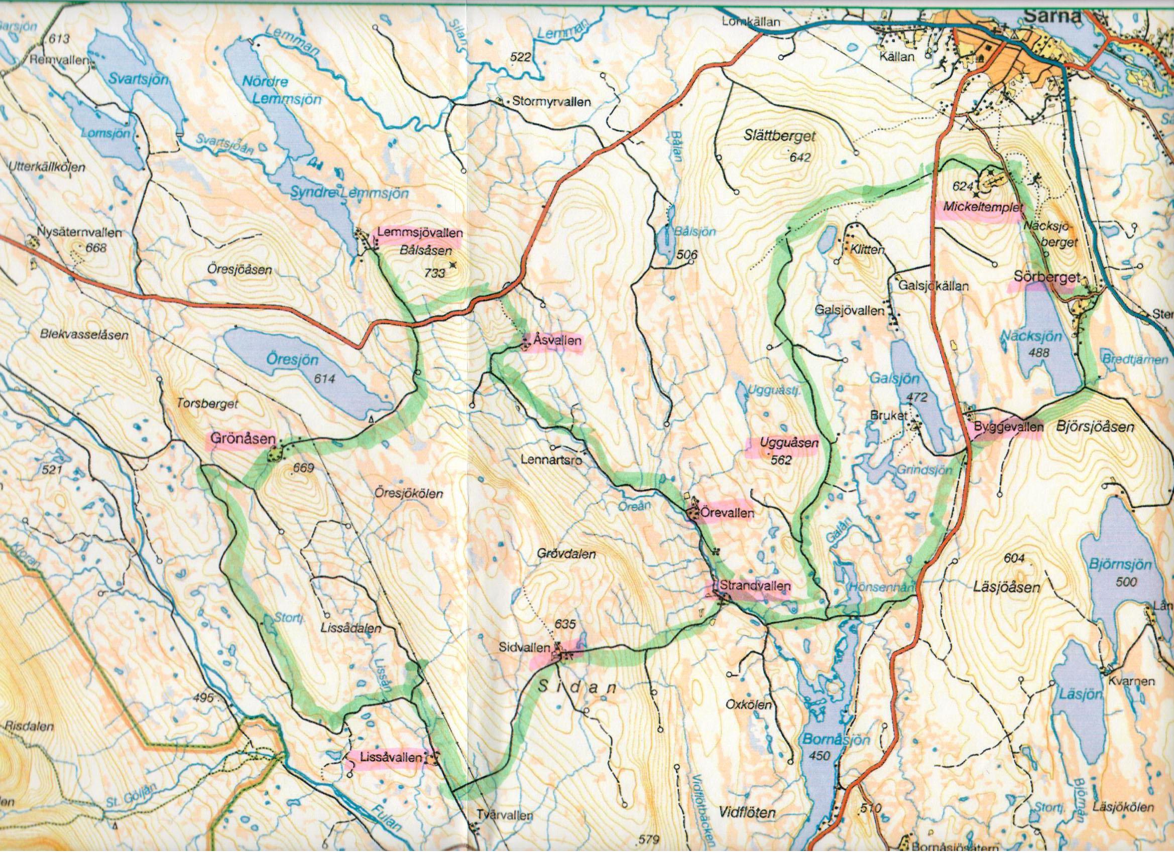 fulufjället karta Hem fulufjället karta